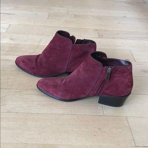 Sam Edelman burgundy booties